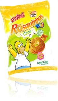 mini rosquinhas mabel sabor coco homer simpson