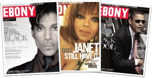 revista ebony, cantor prince, cantora janet jackson, presidente obama