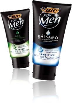gel e bálsamo após barba bic for men nutre hidrata e refresca a pele