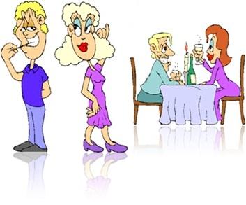 dia dos namorados homem mulher jantando paquerando flertando