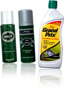 desodorantes brut e très marchand e cera automotiva carro grand prix