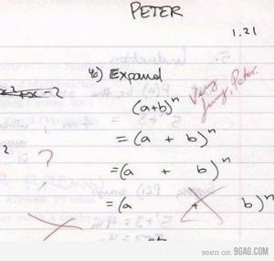 pérolas de estudantes, funny answer, matemática