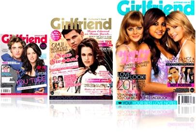 girlfriend magazines, covers, capa, atores filme crepúsculo,