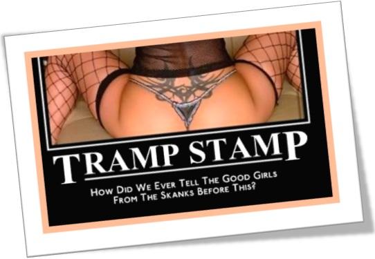 tatuagem, tramp stamp, selo de vagabunda, selo de vagaba