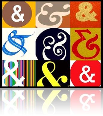 ampersand, e comercial, estilo, artesanato, et latim, ampersand estilizado