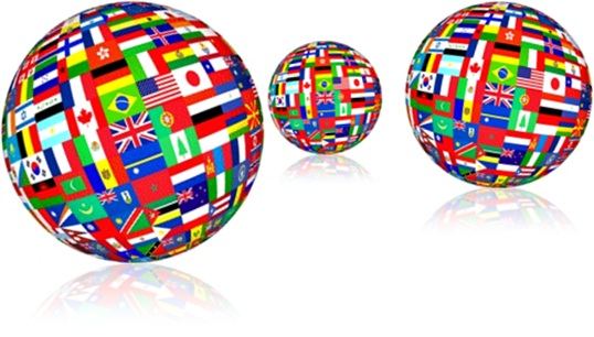 idiomas, inglês, planeta, bandeiras, países, português, salário, trabalhador