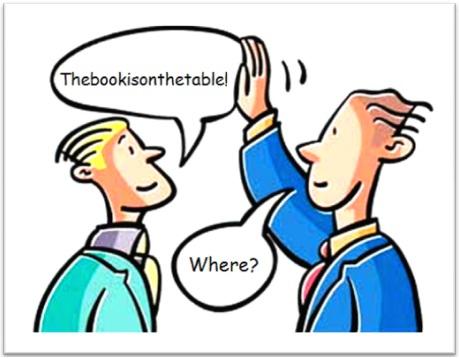 inglês falado, the book is on the table, homens de negócio
