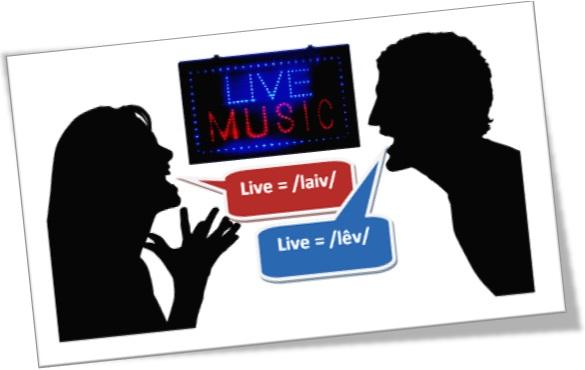 live music discussão a respeito da pronúncia da palavra inglesa live Curiosidades e Dicas do Inglês Falado   Pronúncia e Escrita Desregradas