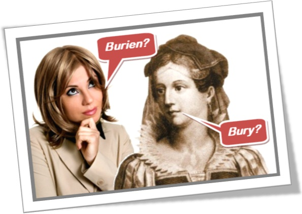 evolução da pronúncia do inglês, de burien para bury, mulher moderna, mulher medieval
