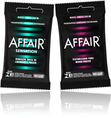 preservativos lubrificados affair texturizados, sexo seguro, pênis