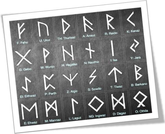 runes, runic alphabet, futhark, spelling, anglo, saxão, celta