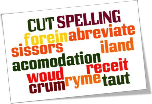 cut spelling, reforma ortográfica, língua inglesa, idioma inglês