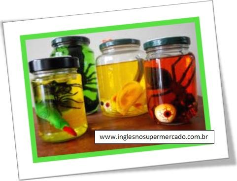 halloween, frascos de espécimes, specimen jars, dia das bruxas, decoração