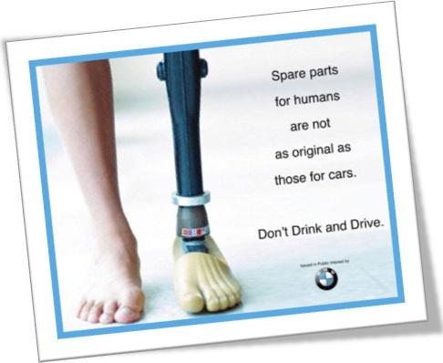 dont drink and drive, se beber não dirija, spare parts for humans, bmw