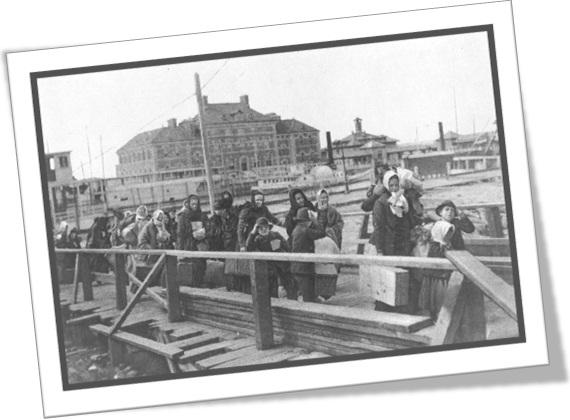 imigrantes chegando a ellis island, nova iorque, europeus, estados unidos