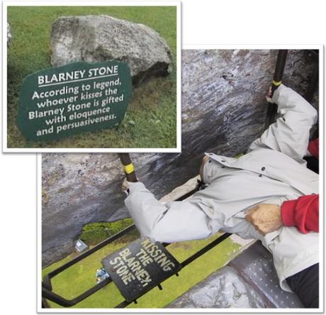 kissing the blarney stone, beijando a pedra blarney, irlanda, castelo