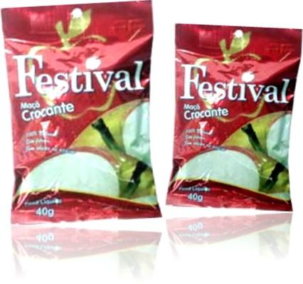 maçã crocante festival, lanche, alimento, fruta desidratada