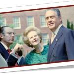 margaret thatcher entre o ex-presidente fernando henrique cardoso e o embaixador rubens barbosa