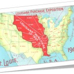 louisiana purchase exposition, mapa dos estados unidos