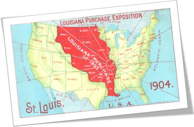louisiana purchase exposition, mapa dos estados unidos