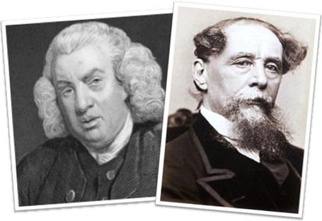 samuel johnson and charles dickens, escritores, inglaterra