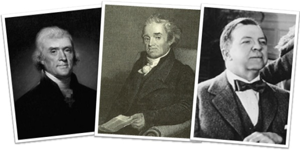 thomas jefferson, noah webster, rupert hughes