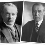 primeiro ministro inglês david lloyd george e presidente norte-americano thomas woodrow wilson
