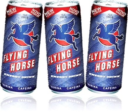 cans of energy drink latas de bebida energética ice cold flying horse