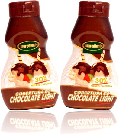 ingredient cobertura de chocolate light para sorvete