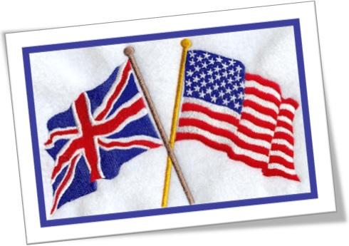 bandeiras do reino unido e dos estados unidos da américa