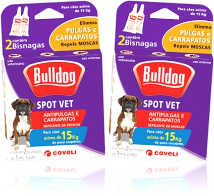 bulldog spot vet antipulgas e carrapatos, coveli