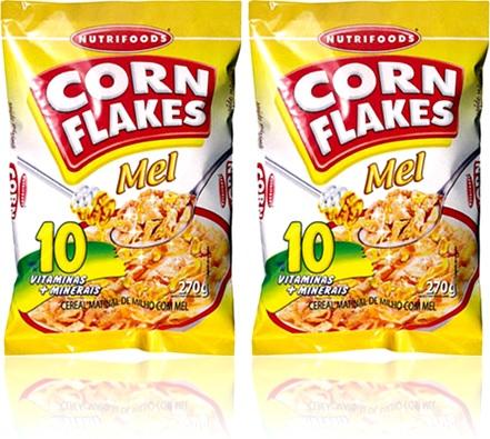corn flakes com mel nutrifoods, alimento, nutrição, cereal, grãos
