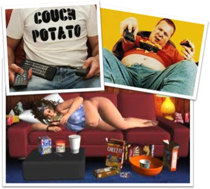 couch potatoes, couch potato, pessoas preguiçosas em frente da televisão