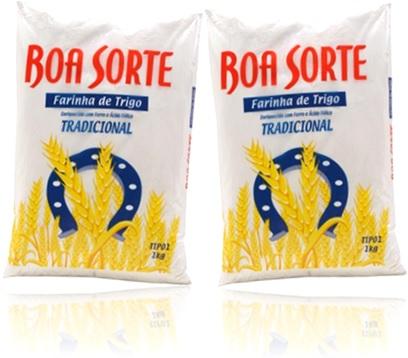 pacote de farinha de trigo tradicional boa sorte para bolos, salgadinhos, biscoitos