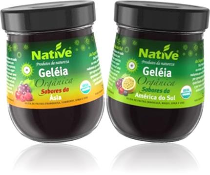 geleia orgânica native sabores da ásia e da américa do sul