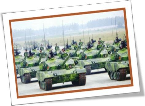 parada militar, desfile de tanques de guerra