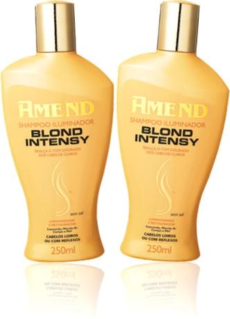 amend shampoo iluminador blond intensy para cabelos loiros