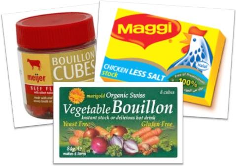 bouillon cubes, stock cubes, caldo de carne, caldo de frango e legumes