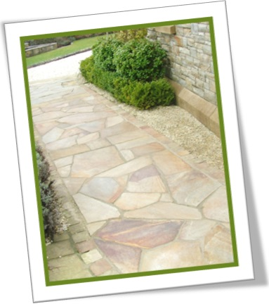 crazy paving, pavimento, calçada de pedras irregulares, mosaico