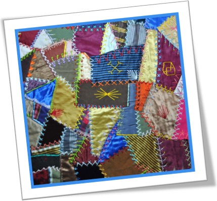 crazy quilt, patchwork, colcha, manta, edredom de retalhos