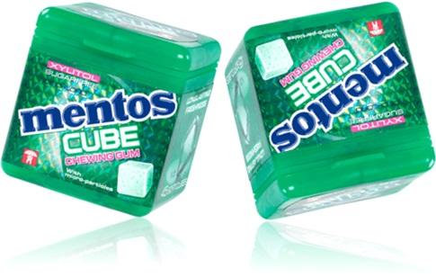 goma de mascar mentos cube chewing gum com xylitol