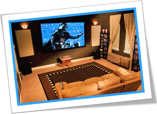 home theater, cinema em casa, movie theater, guerra nas estrelas