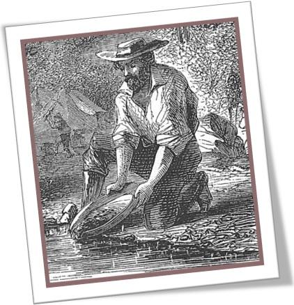 panning for gold on the mokelumne river