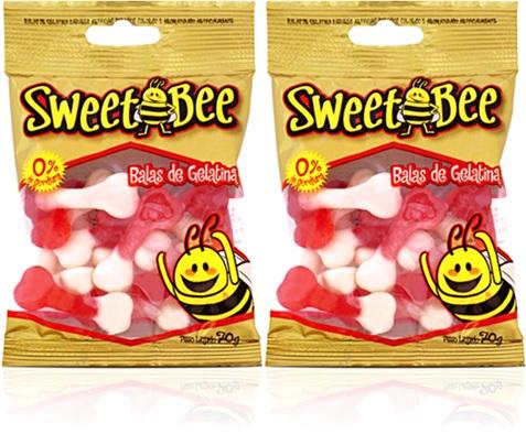 balas de gelatina sweet bee ossinhos zero gordura