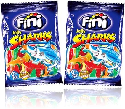 fini jelly sharks, guloseimas formato de tubarão