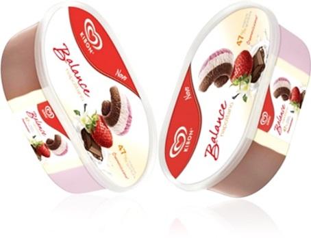 sorvete kibon balance sabor napolitano chocolate baunilha morango