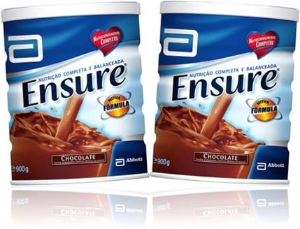 suplemento alimentar ensure sabor chocolate, nutrição balanceada