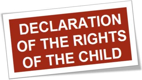 declaration of the rights of the child, declaração dos direitos da criança