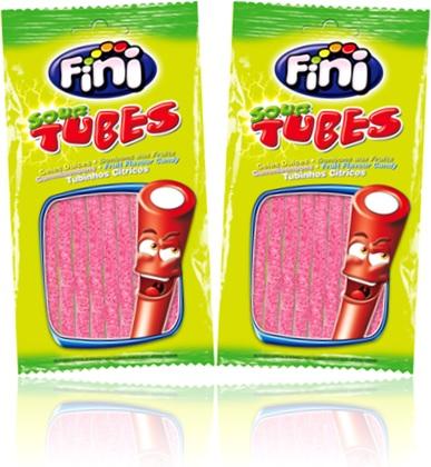 fini sour tubes tubinhos cítricos sabor frutas maracujá morango