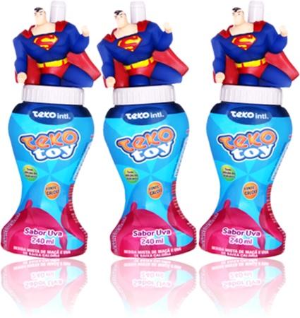 suco sabor uva teko toy disney superman brinquedo